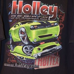 Holley Carburetor Graphic T-Shirt Rat Rod Car